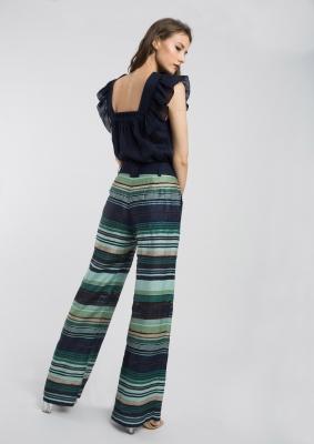 ALBA CONDE Pantalón de rayas - 3
