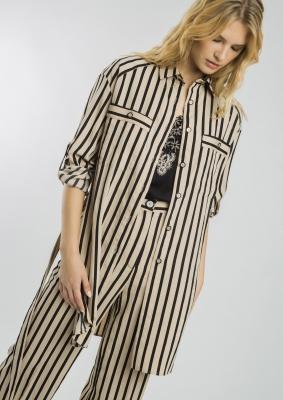 ALBA CONDE Blusa larga de rayas - 2