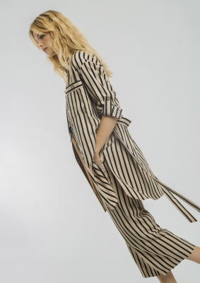 ALBA CONDE Blusa larga de rayas - 3