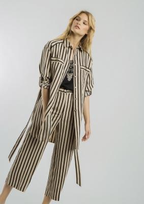 ALBA CONDE Blusa larga de rayas - 4
