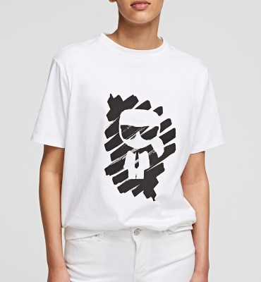 KAR LAGERFELD Camiseta IKONIK GRAFFITI - 1