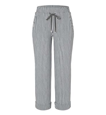 MAC JEANS Pantalones culotte rayas gris claro