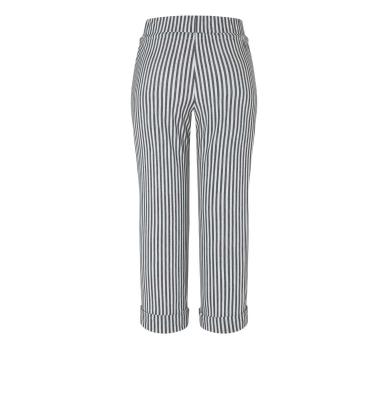 MAC JEANS Pantalones culotte rayas gris claro - 2