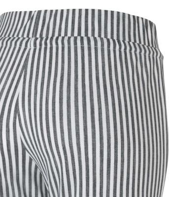 MAC JEANS Pantalones culotte rayas gris claro - 3