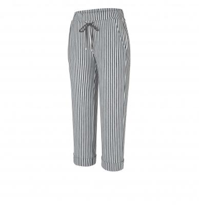 MAC JEANS Pantalones culotte rayas gris claro - 4