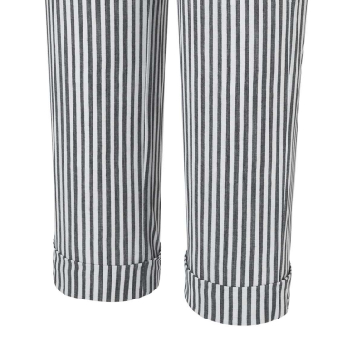 MAC JEANS Pantalones culotte rayas gris claro - 6