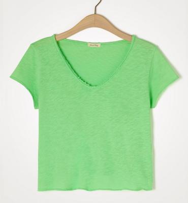 AMERICAN VINTAGE Camiseta de manga corta cuello V - 1
