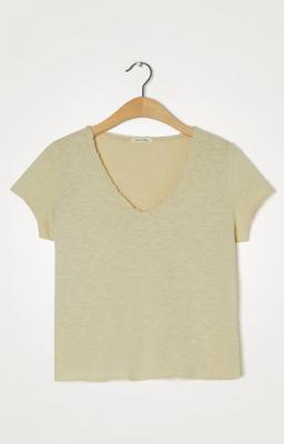 AMERICAN VINTAGE Camiseta de manga corta cuello V - 3