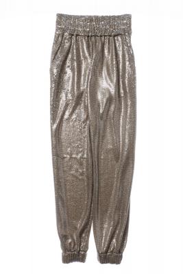 NOLITA Pantalón de lentejuelas color champán - 3