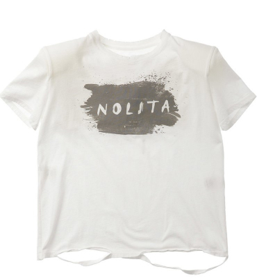 NOLITA Camiseta manga corta blanca con hombreras - 1