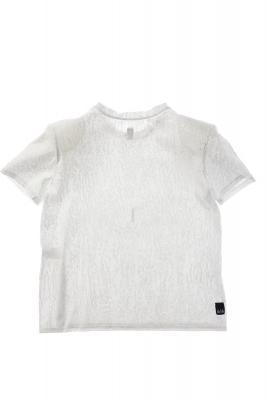 NOLITA Camiseta manga corta blanca y plateada con hombreras - 3