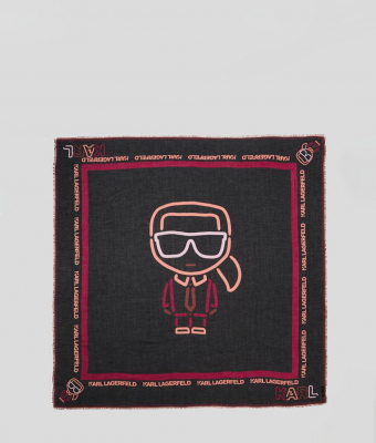 KARL LAGERFELD Pañuelo cuadrado negro Karl Biarritz - 2