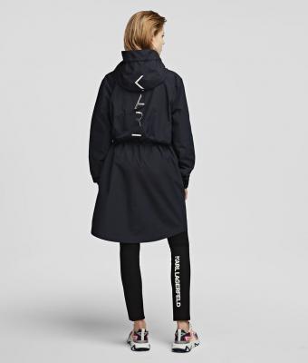 KARL LAGERFELD  Parka ligera negra con capucha - 5