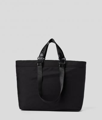 KARL LAGERFELD Bolsa de viaje negra con logo Rue St Guillaume - 2