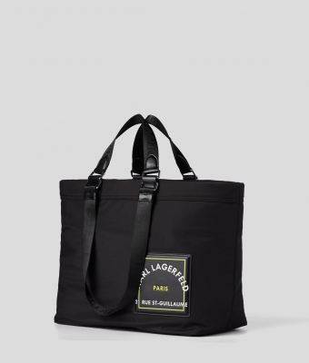 KARL LAGERFELD Bolsa de viaje negra con logo Rue St Guillaume - 3
