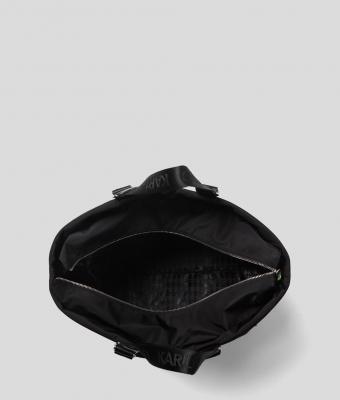 KARL LAGERFELD Bolsa de viaje negra con logo Rue St Guillaume - 4