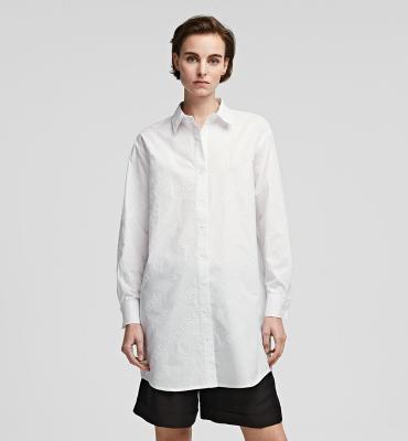 KARL LAGERFELD Camisa oversize tipo túnica con logotipo de Karl