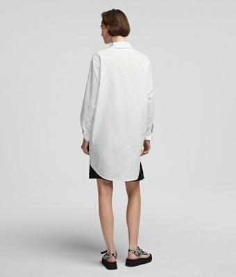 KARL LAGERFELD Camisa oversize tipo túnica con logotipo de Karl - 2