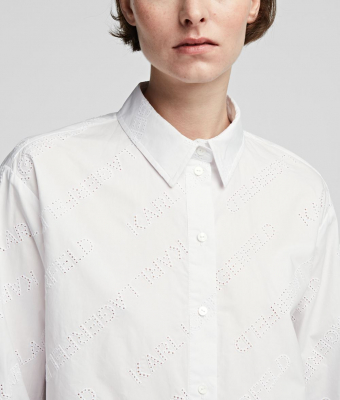 KARL LAGERFELD Camisa oversize tipo túnica con logotipo de Karl - 4