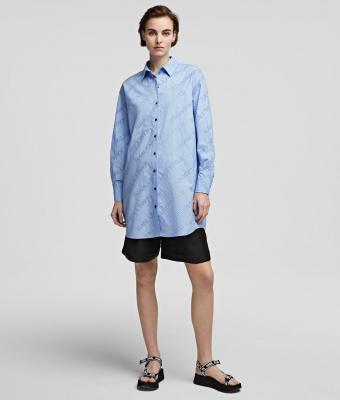 KARL LAGERFELD Camisa oversize tipo túnica con logotipo de Karl - 5