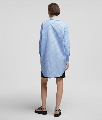 KARL LAGERFELD Camisa oversize tipo túnica con logotipo de Karl - 6