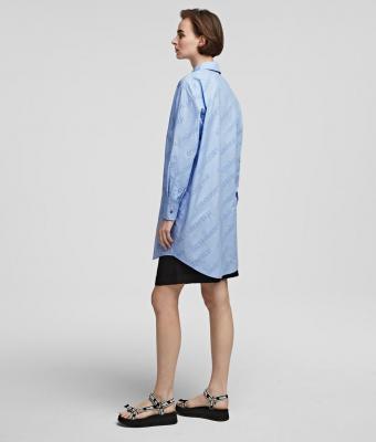 KARL LAGERFELD Camisa oversize tipo túnica con logotipo de Karl - 7