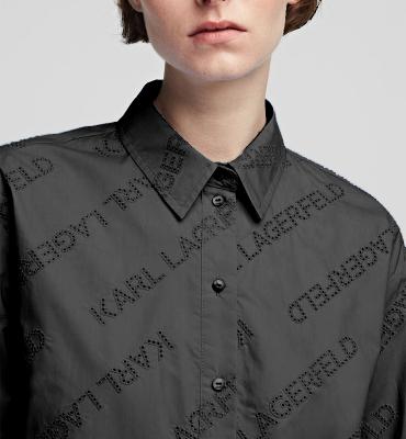 KARL LAGERFELD Camisa oversize tipo túnica con logotipo de Karl - 9