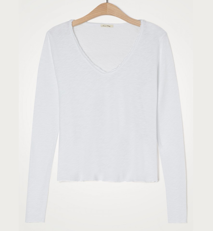 AMERICAN VINTAGE Camiseta de manga larga cuello V -