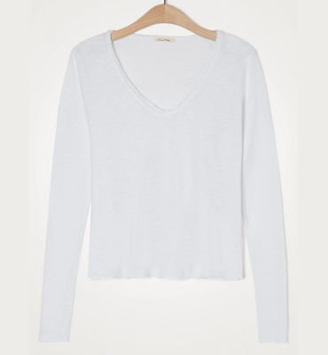 AMERICAN VINTAGE Camiseta de manga larga cuello V