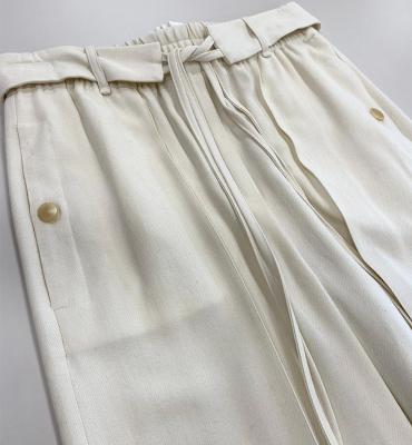 ALYSI Pantalón ancho crudo con cordones - 1