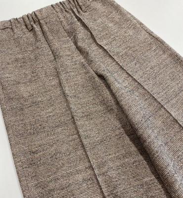 ALYSI Pantalón ancho jaspeado marrón - 1