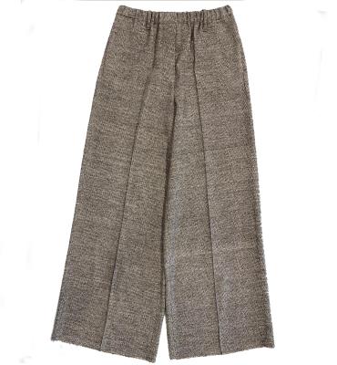 ALYSI Pantalón ancho jaspeado marrón - 2