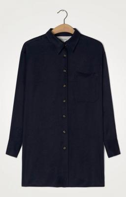 AMERICAN VINTAGE Camisa azul marino manga larga - 4