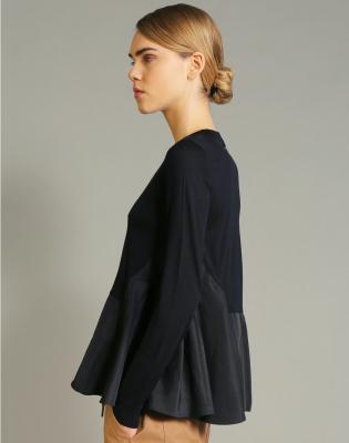 HIGH Jersey cuello redondo azul marino - 3