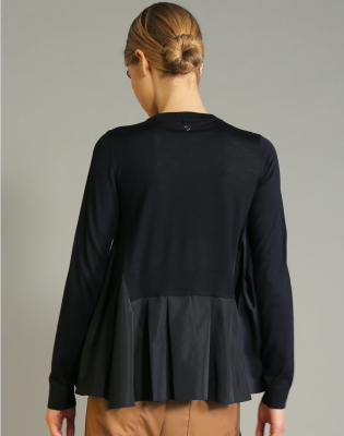 HIGH Jersey cuello redondo azul marino - 5