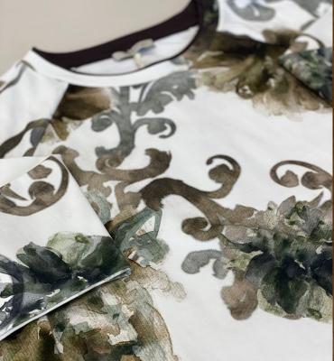 MARGITTES Sudadera algodón estampado tonos marrones - 1