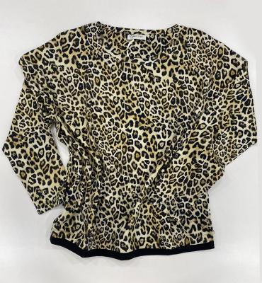 MARGITTES Jersey manga larga estampado leopardo - 1
