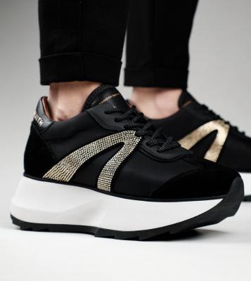 ALEXANDER SMITH Sneakers Chelsea black gold - 3