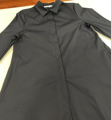 ALBA CONDE Camisa larga con bolsillos negra - 1