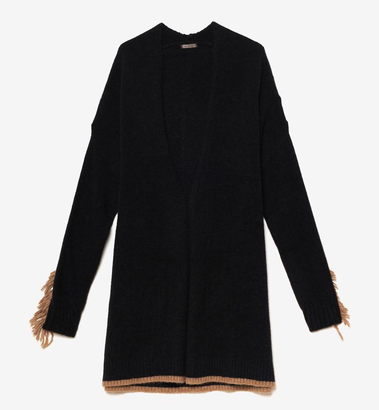 MALÌPARMI Cardigan negro Cozy Alpaca -