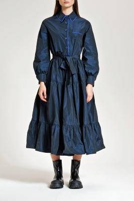 MALÌPARMI Vestido tafetas azul intenso - 2