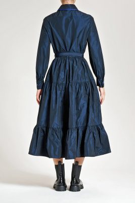 MALÌPARMI Vestido tafetas azul intenso - 3