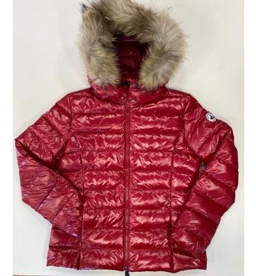 JOTT  Abrigo plumífero rojo brillante con capucha con pelo - 2
