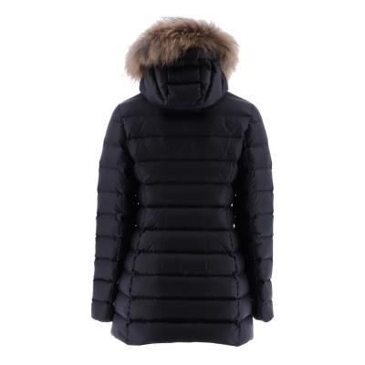 JOTT  Abrigo plumífero negro con capucha con pelo - 2