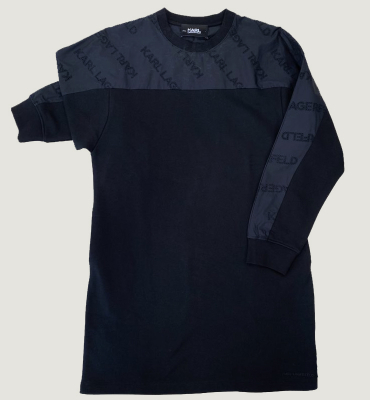 KARL LAGERFELD Vestido punto negro Karl Lagerfeld