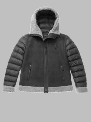 BLAUER Chaqueta de ante negra con capucha Lorraine - 2