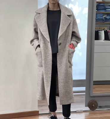 ALBA CONDE Abrigo largo color hueso