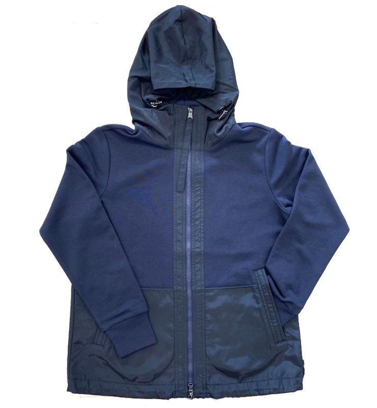 MARGITTES Sudadera con cremallera y capucha azul marino -