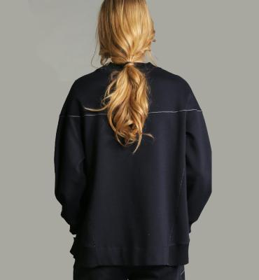 HIGH Sudadera oversize azul marino - 2