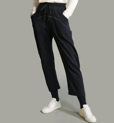 HIGH Pantalón jogger azul marino